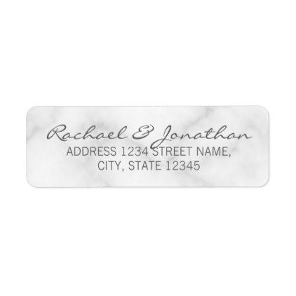 Elegant White Marble Wedding Label  Wedding Labels Elegant And