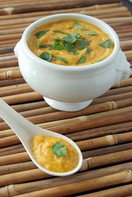 Sweet Potato Coconut Curry Soup Recipe | Easy Vegetarian Soup Recipe
