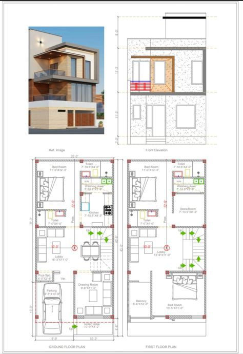 Narrow modern house plans design 20 Ideas in 2020 | 20x40 ...
