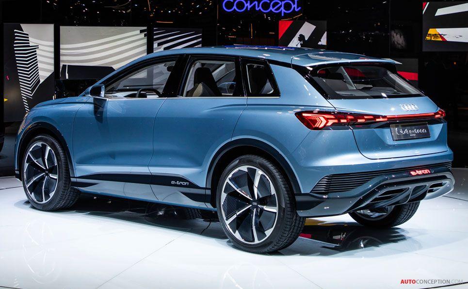 All Electric Audi Q4 E Tron Concept Previews 2020 Production Model Autoconception Com In 2021 Audi Q4 Audi Concept Cars