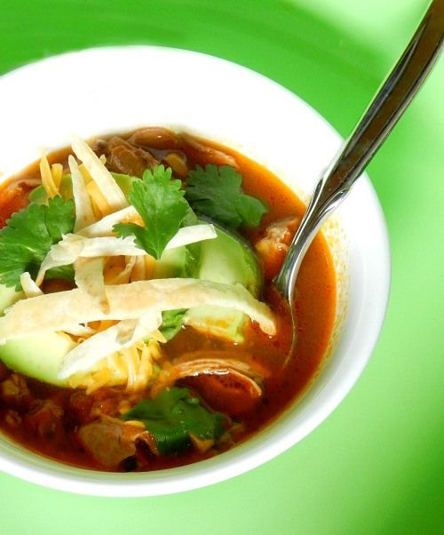 Yummy chicken tortilla soup, perfect for cold nights!