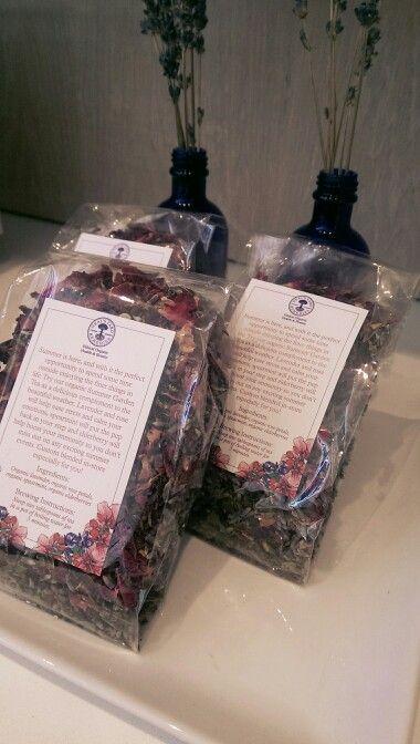 Get our organic, custom blended Summer Garden Tea before its gone! #greenbeauty #organic