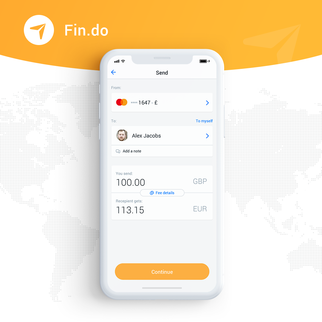 Fin.do is a card to card system for instant money