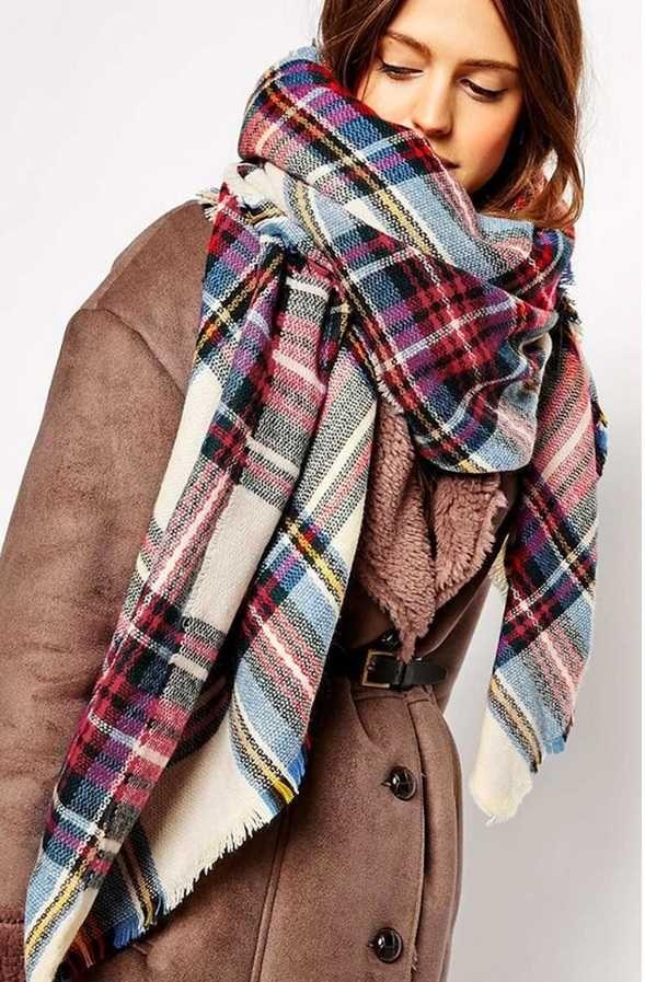 Как завязать красиво шифоновый шарф на шее | Модные стили ...