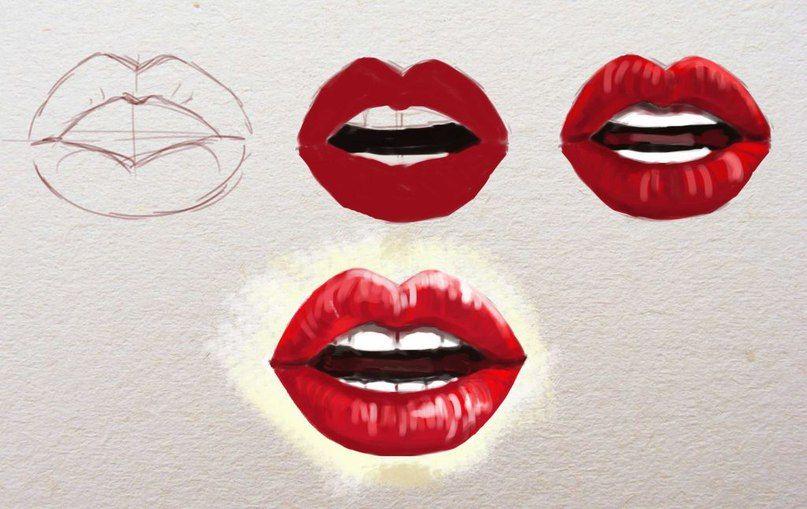 Lippen zeichnen für Anfänger - Zeichnen lernen-dekoking ...