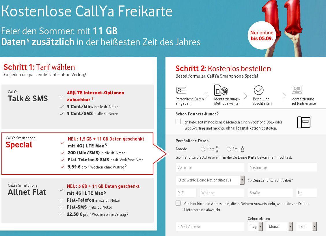 Gratis Sim Karte Vodafone