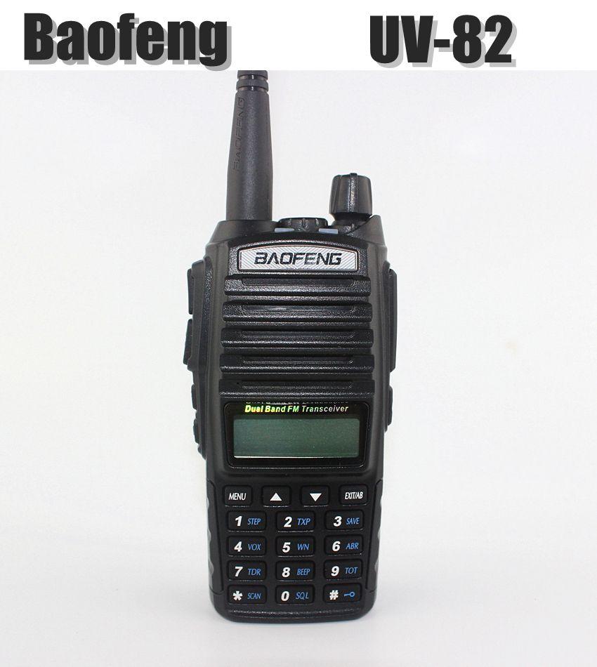 Baofeng uv-82 무전기 블랙 휴대용 5 와트 듀얼 밴드 vhf/uhf 128 fm 햄 라디오 트랜시버 사냥