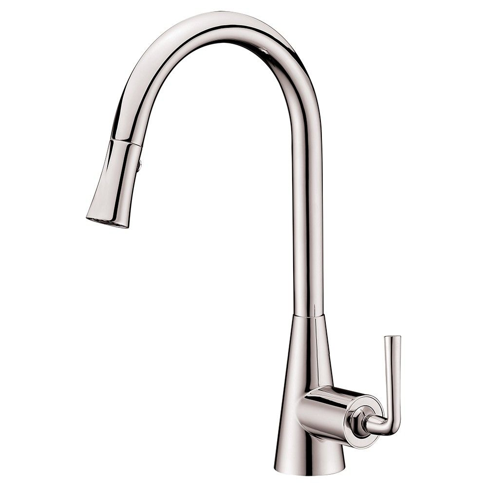 Single Lever Pull Down Spray Sink Mixer In Brushed Nickel Dawn