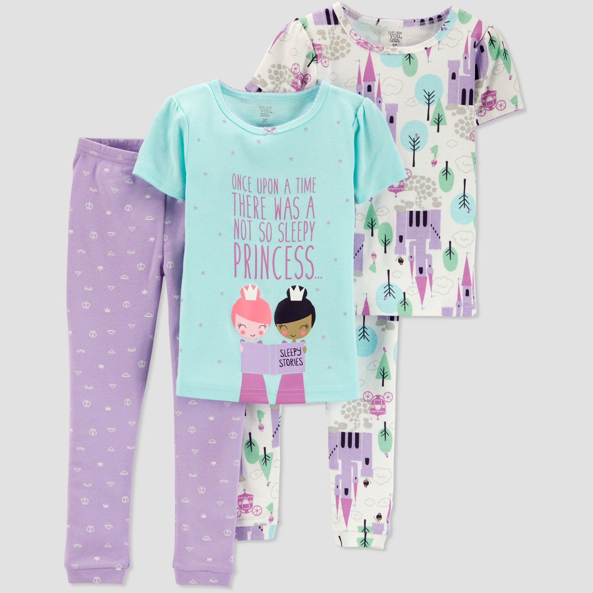 09ed3d7d54 Toddlers Girls  4pc Princess South Pajama Set - Just One You made by  carter s Purple 5T