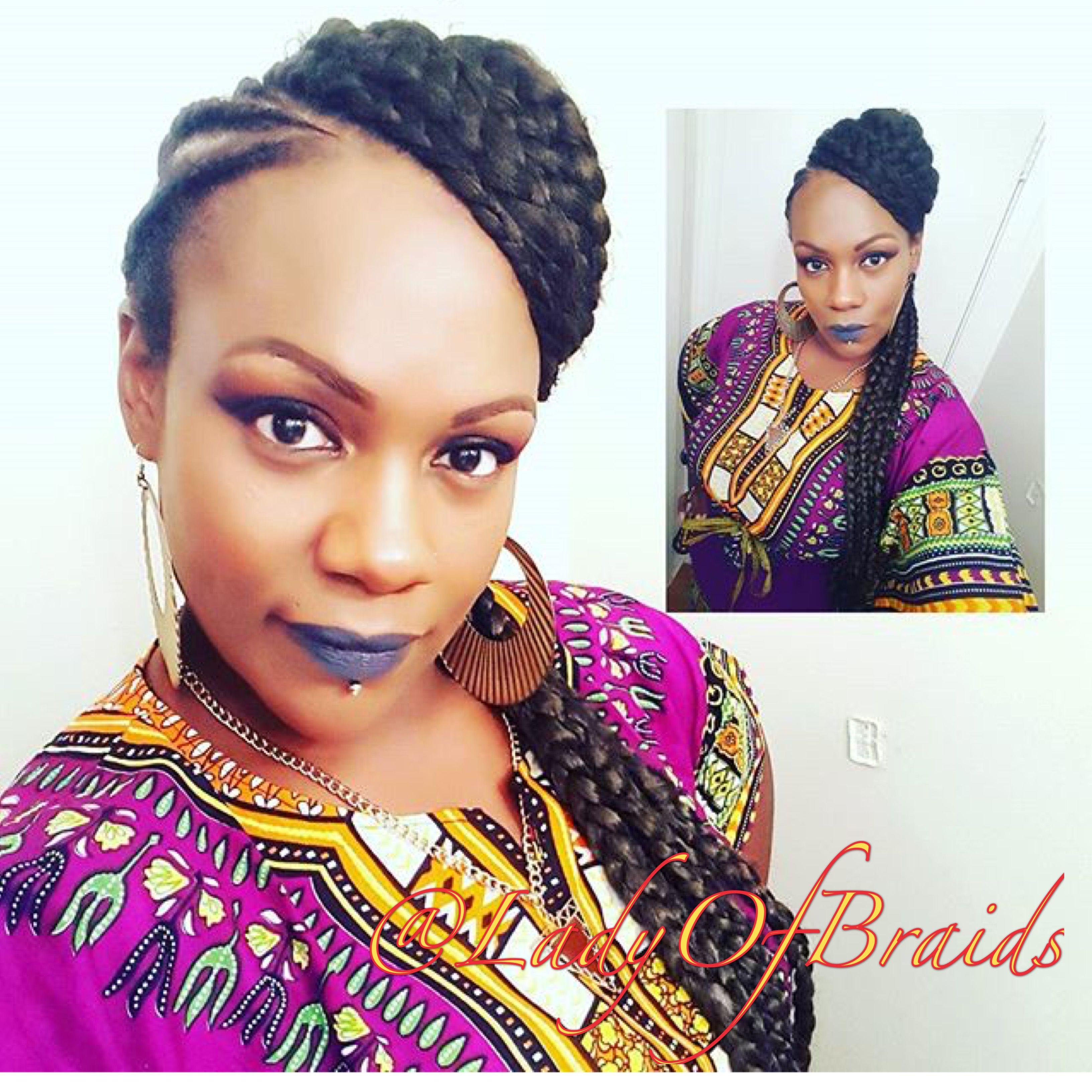 beautiful Kente maxi fashion Y hairstyles for black women Dope