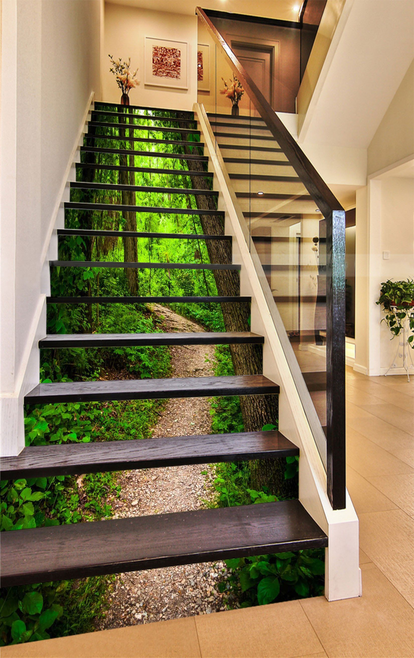 Best 3D Green Forest Path 1025 Stair Risers Stairs Design 400 x 300
