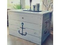 couchtisch kiste truhe shabby maritim unikat deko nord hamburg barmbek vorschau basteln. Black Bedroom Furniture Sets. Home Design Ideas