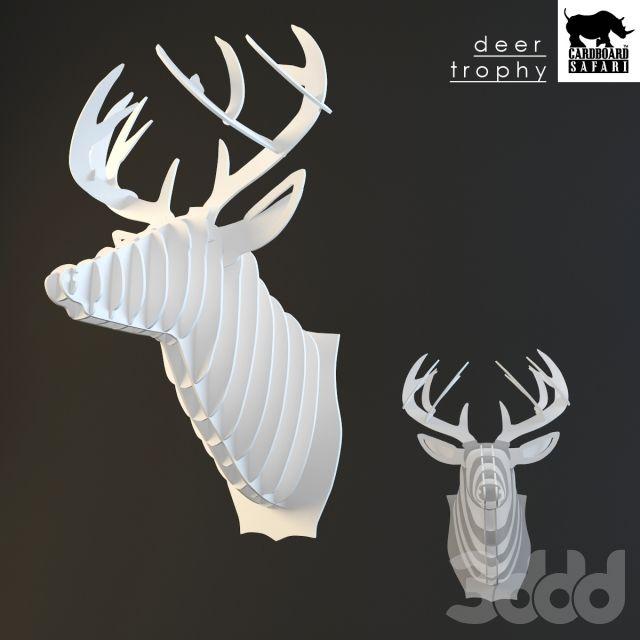 Cardboard safari deer