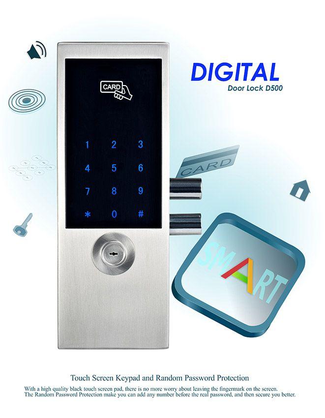 Avent Security D500 Available For Glass Door With Automatic Switch Digital Door Lock Smart Door Locks Doors