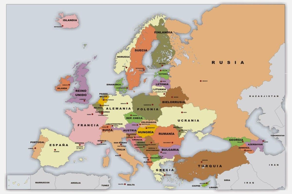 Información e imágenes con Mapas de Europa Fisico, Político y para ...