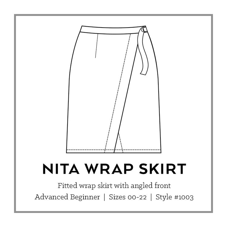 Nita Wrap Skirt PDF Pattern | Pdf sewing patterns, Wraps and Sewing ...