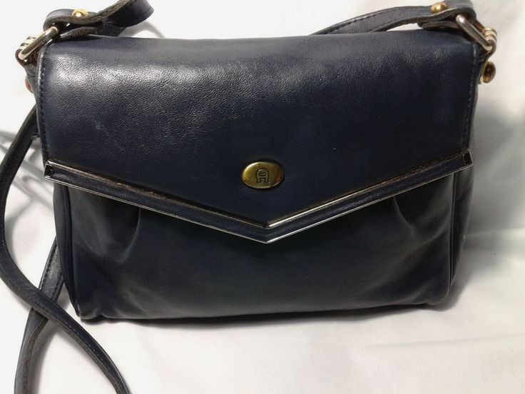 Vintage Etienne Aigner Blue Leather  Purse~Handmade Crossbody~Available US  ONLY  EtienneAigner 8614011949df9