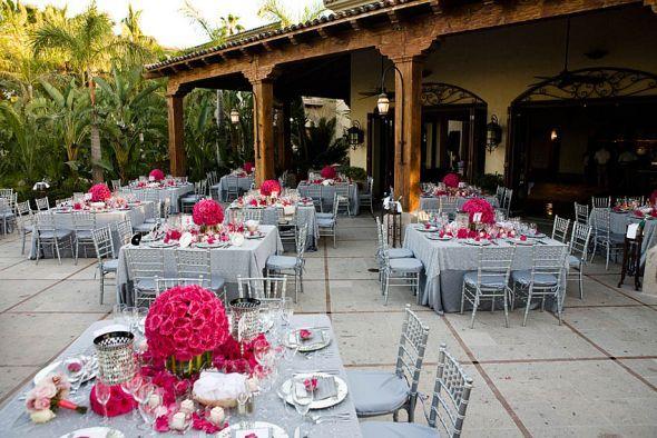 Pink Swan Events - Pink + Grey Wedding Decor Suggestions : (www ...