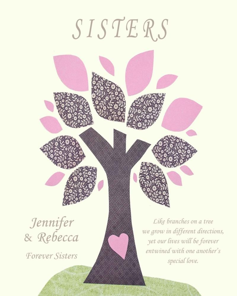 Sister Prints Sisters Gift Print Personalized Gift For Sister