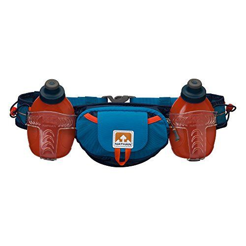Nathan Trail Mix Plus Hydration Belt, Methyl Blue, One Size - http://www.exercisejoy.com/nathan-trail-mix-plus-hydration-belt-methyl-blue-one-size/fitness/