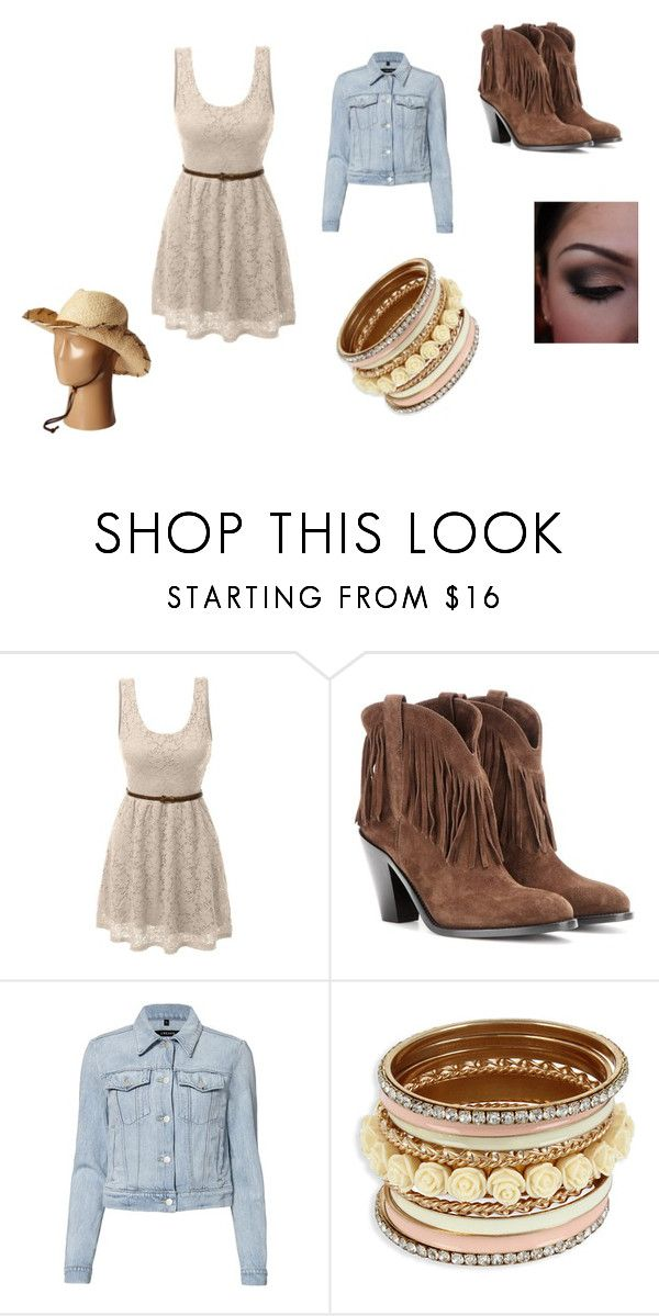"""Country Style"" by cute-outfits25 on Polyvore featuring LE3NO, Yves Saint Laurent, J Brand, Pistil and country"