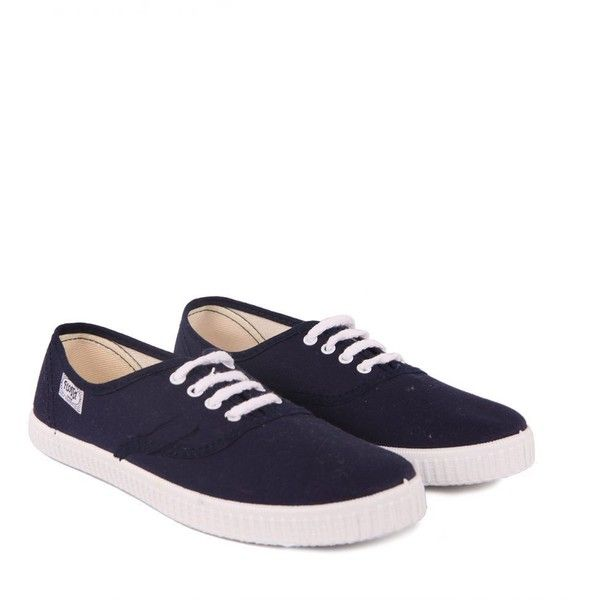 Flossy Womens Lace Up Navy Blue Canvas