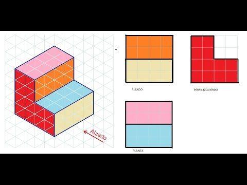 Alzado Planta Y Perfil De Una Pieza E1 Vistas Dibujo Tecnico De Un Objeto Tecnicas De Dibujo Vistas Dibujo Tecnico Dibujos De Geometria