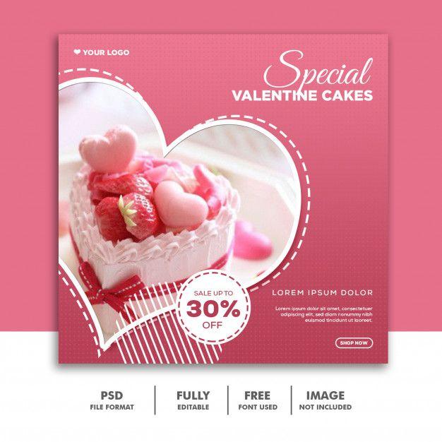 Heart Shaped Valentine Banner Social Media Post Instagram