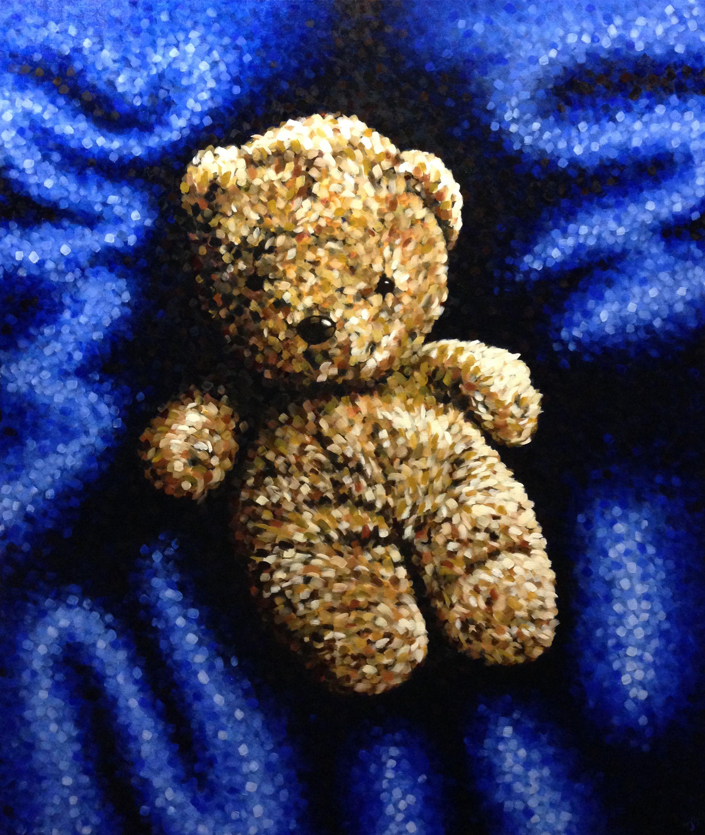 Teddy Bear, 120x100cm, oil on canvas - www.marcelstraver.nl