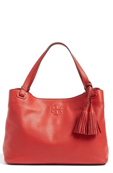 TORY BURCH 'Thea' Tote. #toryburch #bags #leather #hand bags #tote #lining #