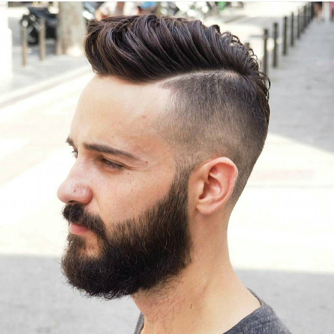 Men's blowout haircut long hair short sides beard fashions  create your on style