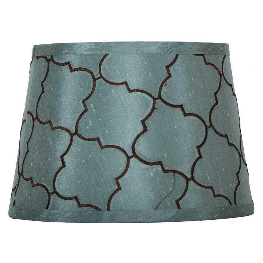 Shop portfolio 7 in x 10 in blue drum lamp shade at lowes com