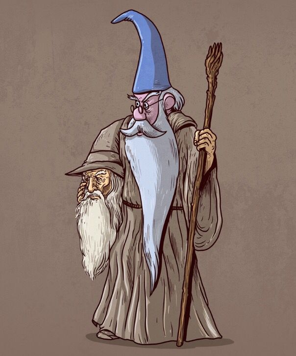 Gandalf Unmasked by Alex Solis