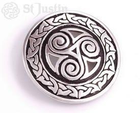 Triscele Spiral Belt Buckle made in the U.K.