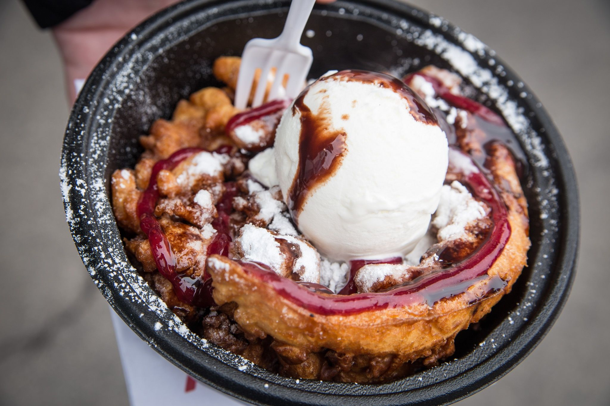The hamilton funnel cake factory at sew hungry in hamilton