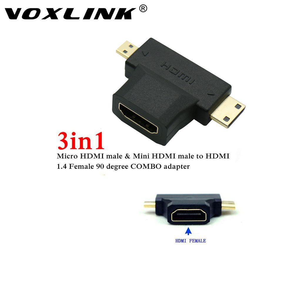 Alta Velocidade De 3 In1 Micro Hdmi Macho Mini Hdmi Macho Para Hdmi 1 4 Feminino Cabo Adaptador Conversor Para Hdtv 1080 P Hdm Hdmi Digital Cable Hdmi Cables