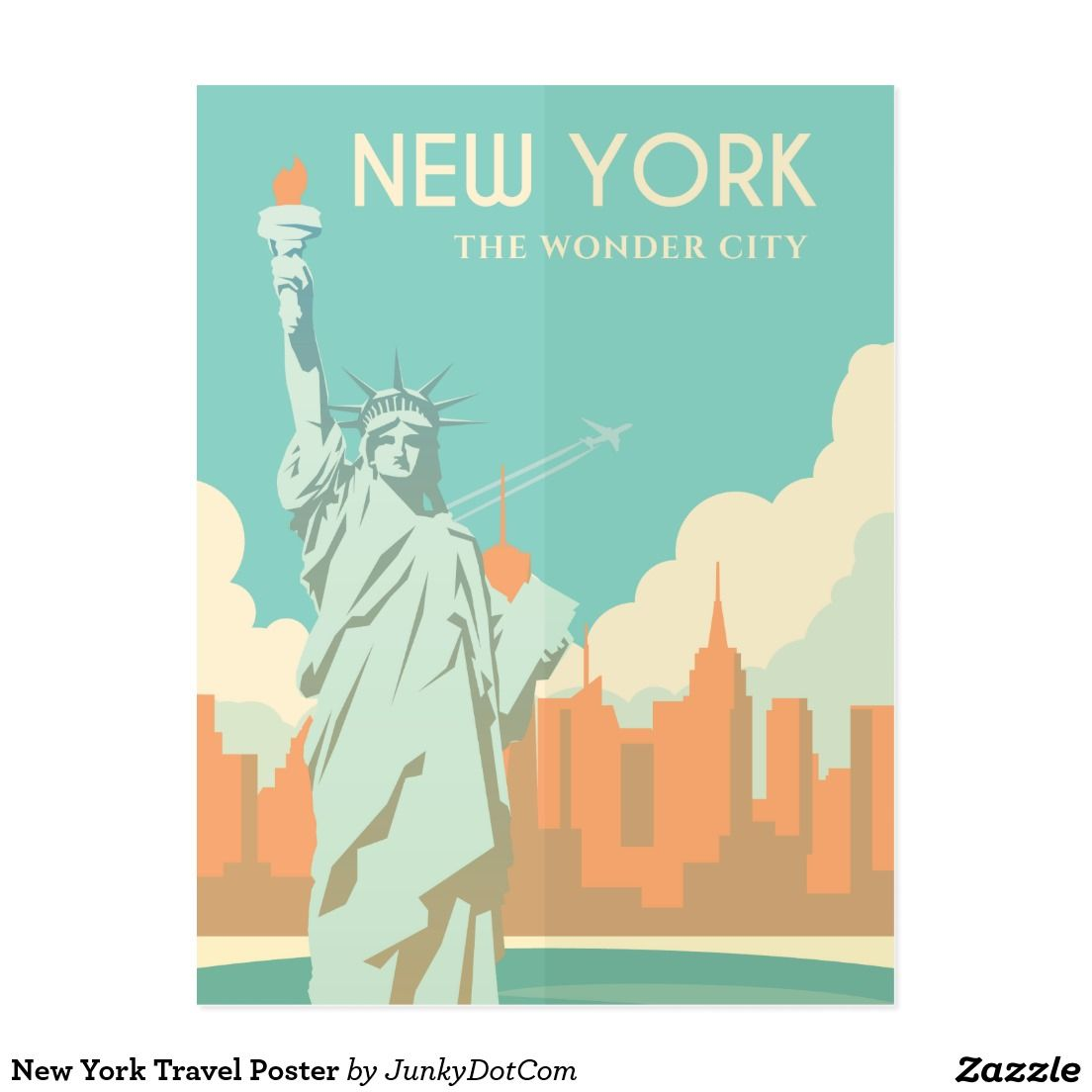 Zazzle poster design - New York Travel Poster Postcard