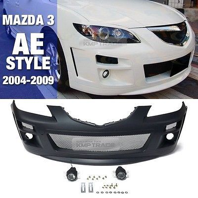Ae Style Mesh Lower Grille Front Bumper Body W Fog Lamp For Mazda 04 09 3 Sedan Autos Y Motos Autos Coches