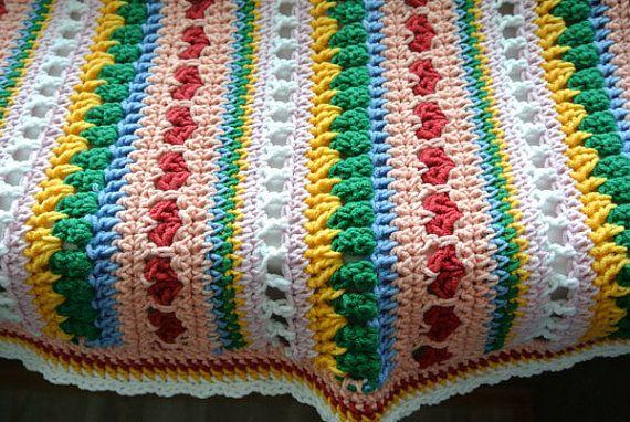 Mixed Stitch Blanket PatternHeart Blanket Crochet Pattern   MUSTER ...