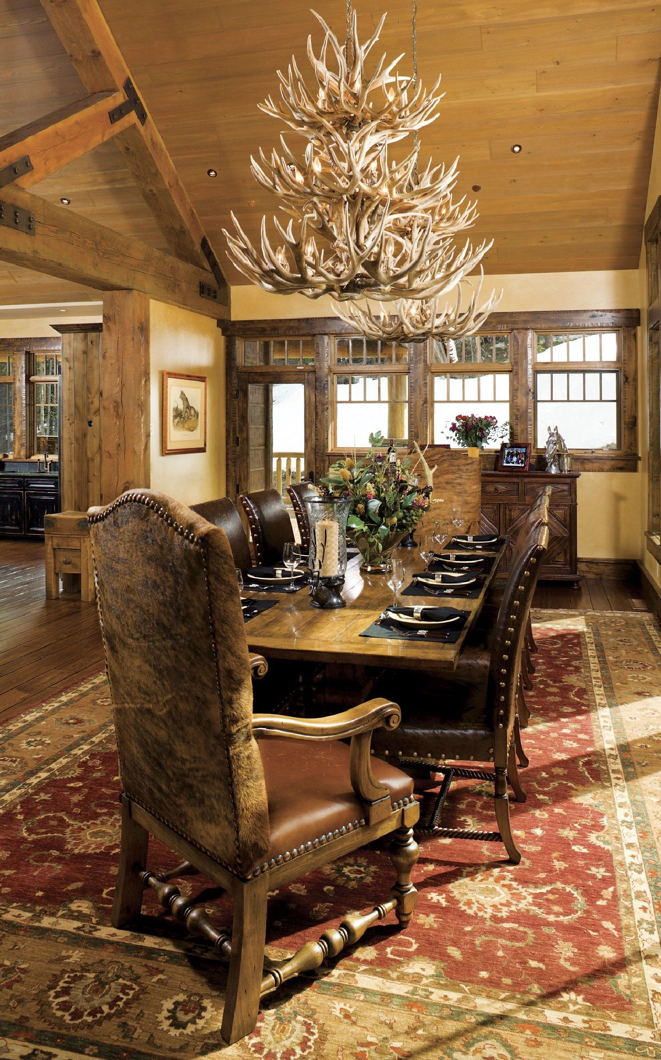 Best Rustic Western Dining Room Design And Decor Ideas Rustic Dining Room Luxury Dining Room Dining Room Decor