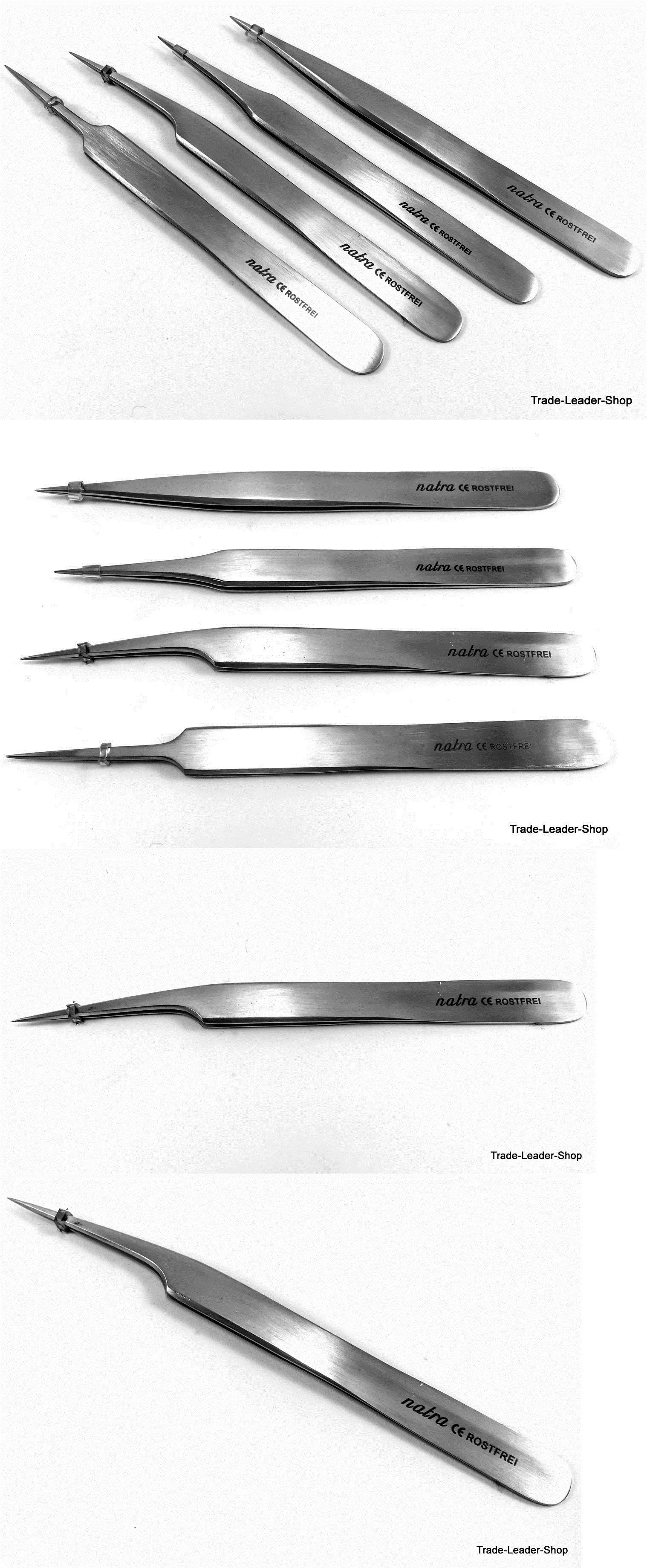 5 Tweezers Stainless steel set non magnetic craft jewellery tweezer tool no2