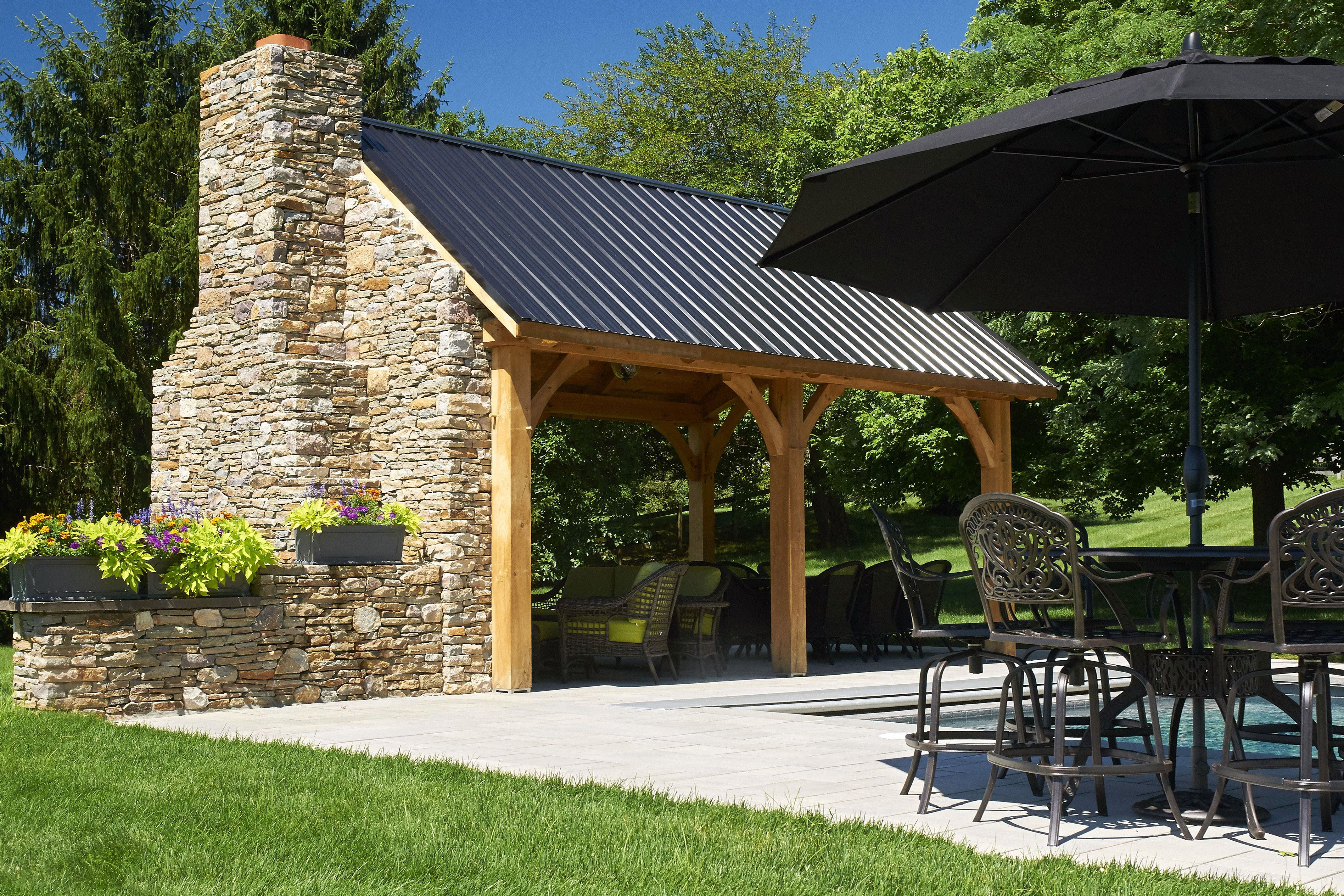 Best Pergola And Pavilion Design Ideas For Your Backyard With Images Rustic Outdoor Kitchens Backyard Pavilion Outdoor Kitchen Design