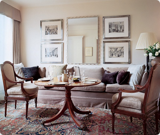 Architectural Digest Photographyscott Frances Mariette Himes Simple Dining Room Table With Settee Decorating Inspiration
