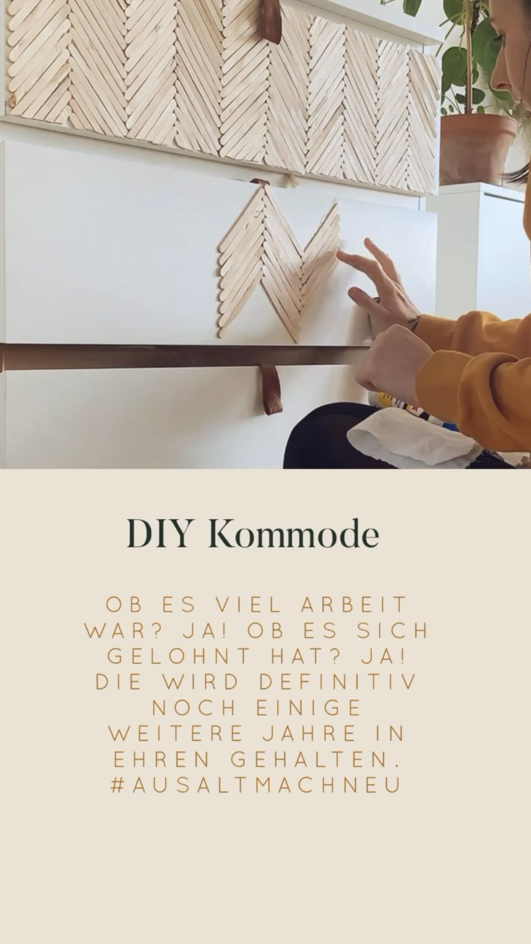 DIY Kommode aus Eisstielen