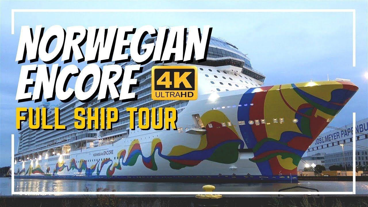 Norwegian Encore Full Ship Tour Review 4k All Public