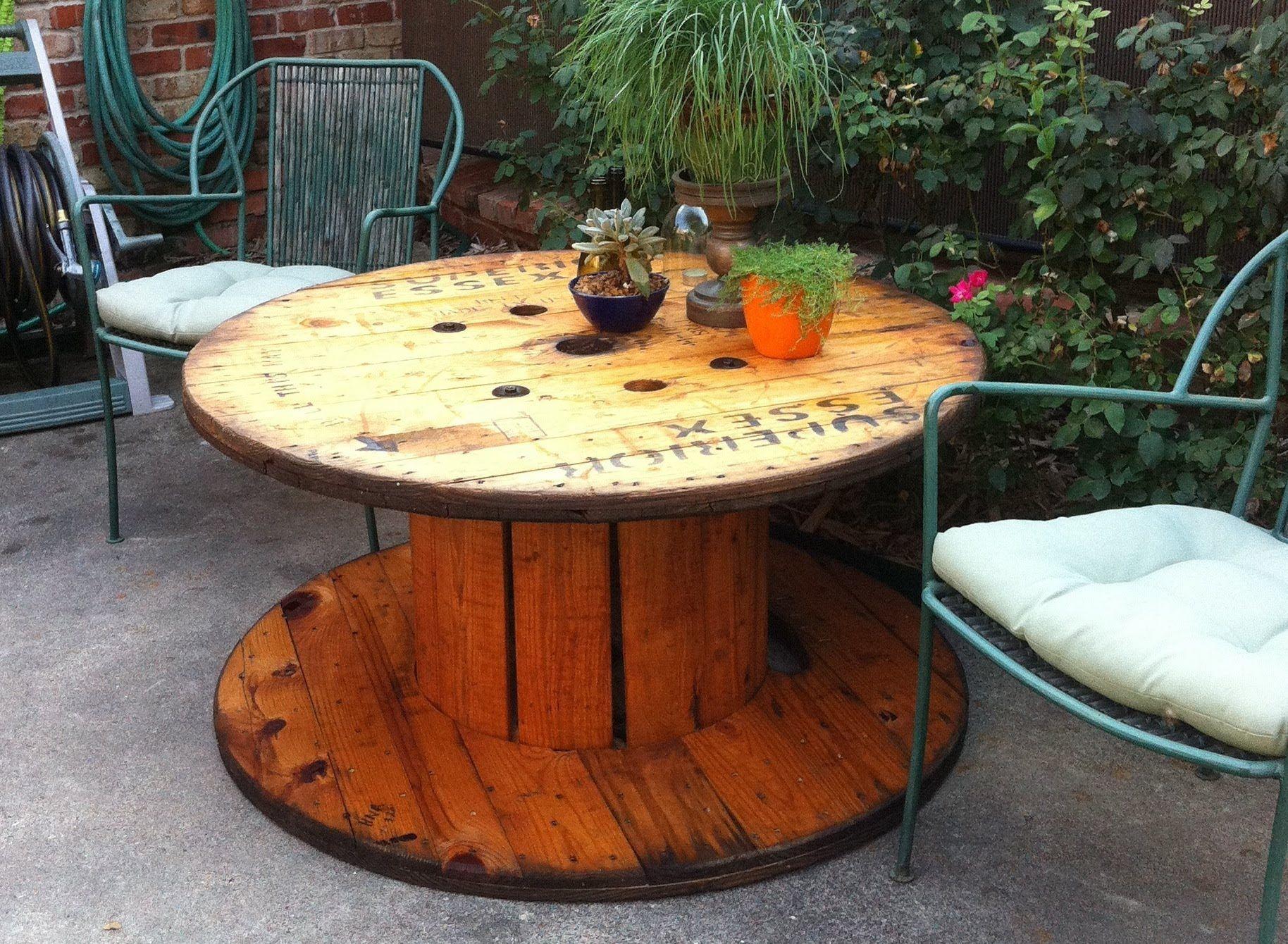 Wooden Spools Outdoor Furniture