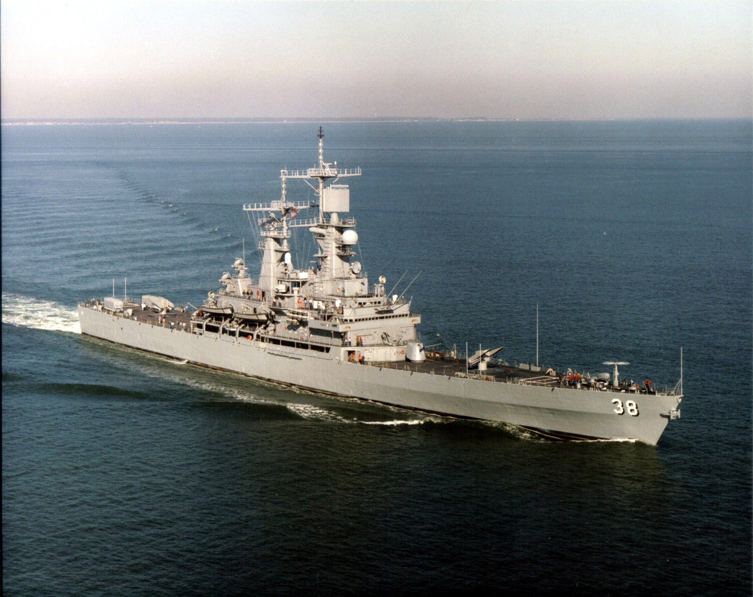USS Virginia (CGN-38) was a nuclear-powered guided missile cruiser, the lead ship of her class, and the eighth ship of the United States Navy to be named for the Commonwealth of Virginia.