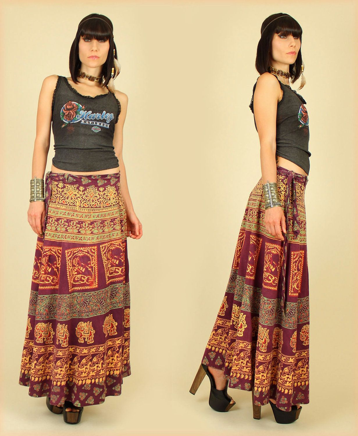 Wrap indian skirt how to wear best photo