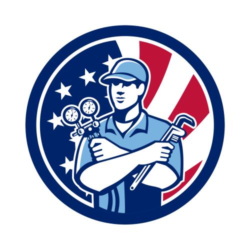 American Air Con Serviceman Usa Flag Icon Znachki