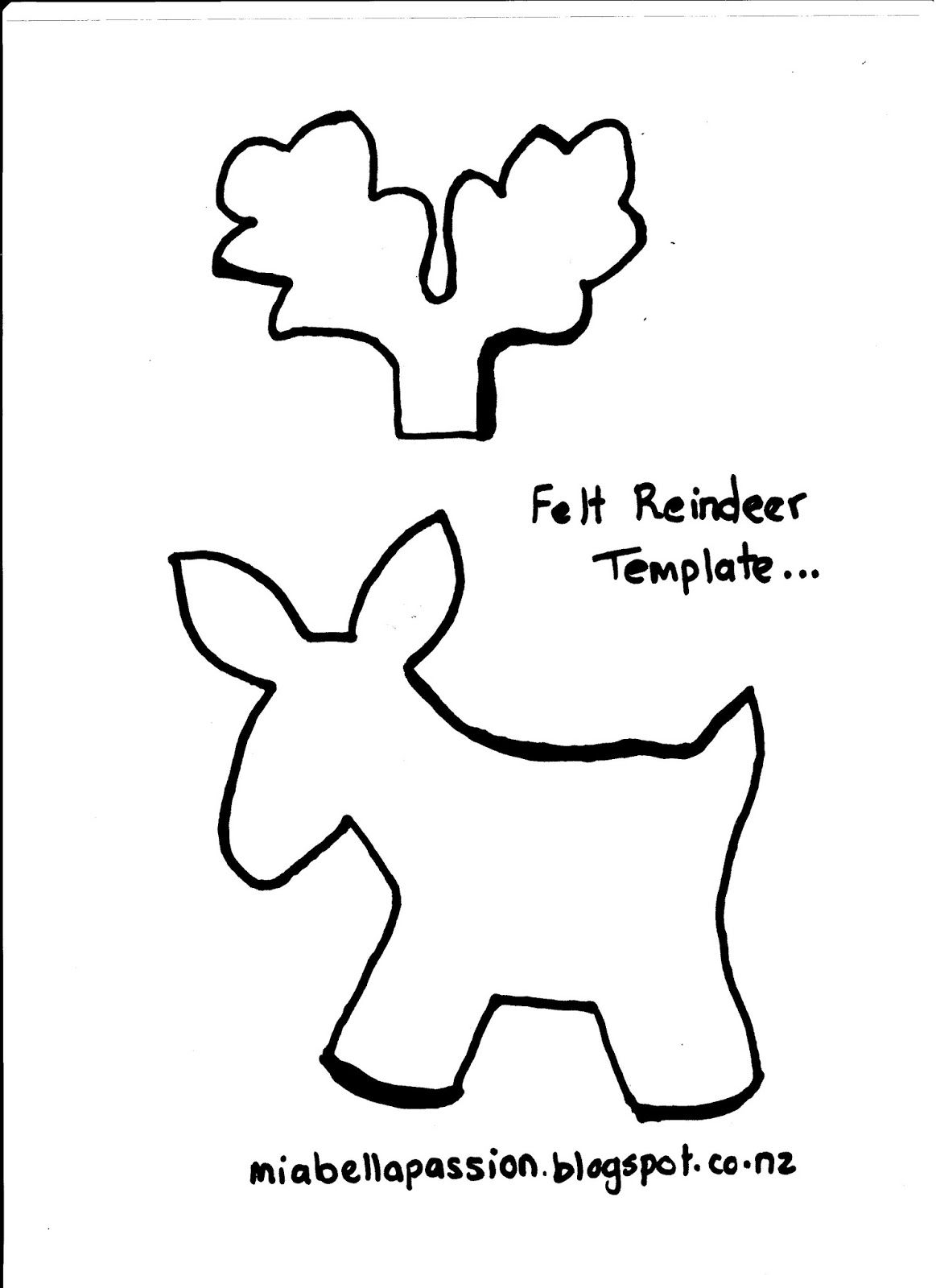 image result for felt reindeer template bows pinterest navidad